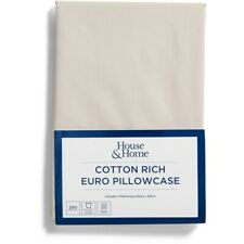House & Home 250 Thread Count European Pillowcase - Stone