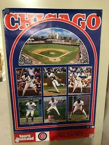 Original 1989 Sports Illustrated Poster Chicago Cubs All Stars Free Shipping
