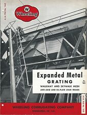 MRO Brochure - Wheeling Corrugating Expanded Metal Grating Treads c1952 (MR94)