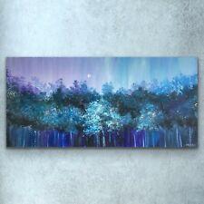 100x150cm - ORIGINAL Painting-Moon Forest Teal/Purple Art By JENNIFER TAYLOR