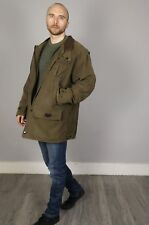 Mens Barbour Moleskin Leather Collar Shooting Jacket Quilt Lined Size Large