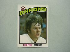 1976/77 O-PEE-CHEE NHL HOCKEY CARD #352 LEN FRIG ROOKIE NM SHARP!! 76/77 OPC