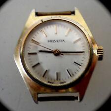 Damenarmbanduhr Helvetia Walzgold Handaufzug um 1970 (48158)