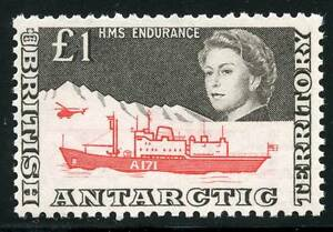 BRITISH ANTACTIC TERRITORY SCOTT# 24 SG# 15a MINT NEVER HINGED AS SHOWN
