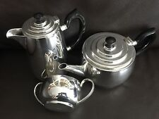 Rare Art Deco English Elkington Silver Plated Tea Set In Perfect Condition