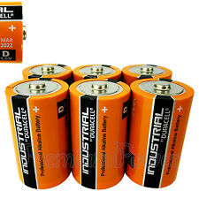 6 x Duracell D Size batteries Industrial Procell Alkaline LR20 MN1300 MONO 1.5V
