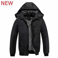 Men New Casual Slim Fit Long Sleeve Coat Tops Warm Outwear Jacket Winter Black