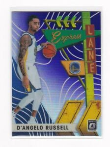2019-20 NBA Donruss Optic EXPREE LANE SILVER PRIZM Card - D'Angelo Russell