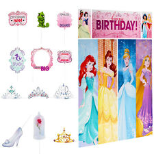 Disney Princess Scene Setter Photo Booth + Prop Birthday Wall Decoration ~ 17pc