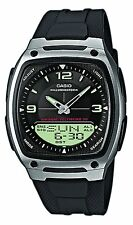Casio Men's Analogue & Digital Resin Strap Illuminator Watch, Black, AW-81-1A1VE