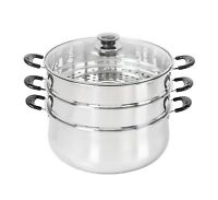 CONCORD Stainless Steel 3 Tier Steamer Steam Pot Cookware Avail in 3 Sizes