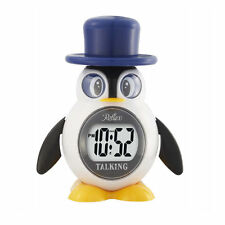 Reflex LCD Talking Penguin Alarm Clock Large Display Snooze Kids Great Gift
