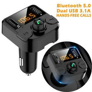 Wireless Bluetooth Car FM Transmitter Kit Dual USB Charger MP3 Player Handsfree