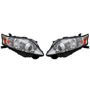 NEW PAIR OF HALOGEN HEADLIGHT FITS LEXUS RX350 3.5L 2012 811100E061 811500E061