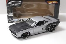 1:24 Hot Wheels Plymouth Cuda G-Force 1971 silver NEW bei PREMIUM-MODELCARS
