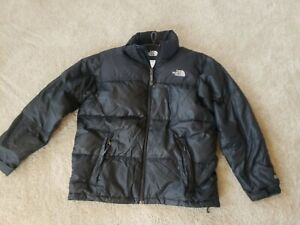 The North Face Boys Black 600 Fill Puffer Down Jacket Coat Size L Large 14/16
