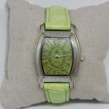 Vintage Qbox Quartz Green Dial Watch