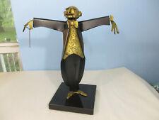 Signed Eugene Dobos Metal Sculpture Symphony Conductor Musical C 1960 USA