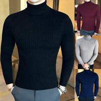 Lightweight Men'S Knit Slim Turtleneck Knitted Pullover Fit Winter Cable Sweater