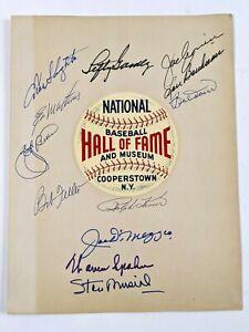 Baseball Hall of Fame DIMAGGIO BERRA CRONIN MATHEWS MUSIAL PSA Cert