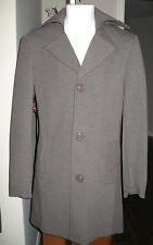 Mens Vintage TAILOREDWAX grey dress coat lined soft wool blend XS