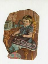 Antique Broom Holder Advertisement York St Market Hanover PA Pennsylvania  NOS