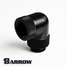 """Barrow G1/4"""" Matte Black 90 Degree Double Rotary Fitting Water Cooling -001"""