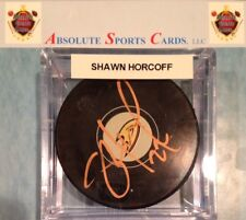 Shawn Horcoff Anaheim Ducks Official Team Autographed Puck W/Case | Cooper Auto