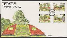 GB - JERSEY 1999 Europa '99/Jersey Parks & Gardens SG 899-902 FDC TREES FLOWERS