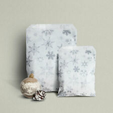 More details for silver snowflake paper counter bags - christmas party, frozen, winter  2 sizes
