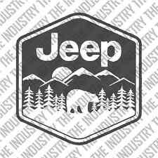 JEEP ADVENTURE BADGE BEAR DECAL JK TJ LJ YJ CJ 4X4 WRANGLER CHEROKEE