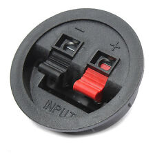 Round Flush Sub Speaker Box Terminals Wire Binding Post Push Springs Subwoofer