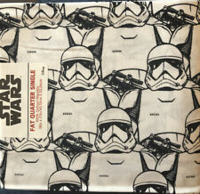"""Disney Stars Wars Fat Quarter Fabric 18"""" X 21"""" PQB Storm Troopers 100% Cotton"""