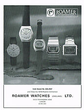 1970's Vintage 1978 Roamer Watch Co. Models - Paper Photo Print AD
