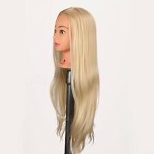 77cm Professionnel Tête À Coiffer Naturel Cheveux Fibre Long Coiffure