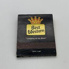 Vintage Best Western Hotel Motel Matchbook Cover