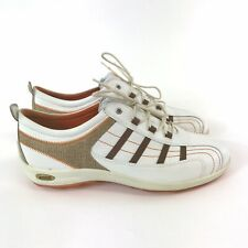 Ecco Size 41 UK7 White Brown Leather Mens Lace Up Hybird Golf Shoes