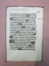 Antique Medieval Illuminated Manuscript Page