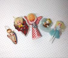 Lot of 5 Vintage Christmas Angel Ornaments Decorations Handmade