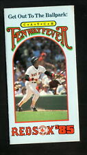Boston Red Sox--Jim Rice--1985 Pocket Schedule--Boston Herald