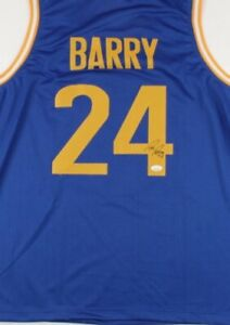Rick Barry Signed Jersey (JSA COA)Golden State Warriors