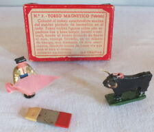 jeu ancien course de taureau magnétique toreo magnetico San Sebastian années 30