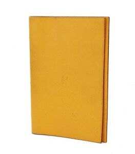 Authentic HERMES Yellow Leather Agenda GM Note Address Book Cover #31684