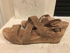 Womens Shoes Size 8 1/2 Lands End Open Toe Wedges Cork Heel