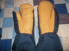 Holubar USA Made Vintage Medium Mittens Mitts Goose Down Leather Rare NICE NEW