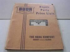 1941 Buda Gasoline Amp Diesel Engines Repair Parts Price List Harvey Il In Org Env