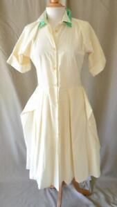 Bottega Veneta Cream Cotton & Silk Shirt Dress Size 40