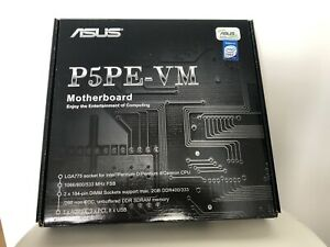 ASUS P5PE-VM MOTHERBOARD I865G supports up to Core 2 Extreme X6800 775 AGP