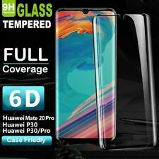 For Huawei P30 Mate 20 Pro 6D Full Curve Edge 9H Tempered Glass Screen Protector