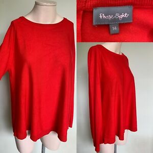 Phase Eight Size 14 Oversized Red Jumper / Tunic